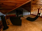 Cloud 9 Loft area with xbox game system and tv