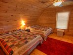 Eagles Nest Upstairs Suite with Two Queen Beds and Private Full Bath with Shower