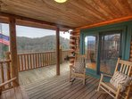 Eagles Nest Covered View Porch with Seating