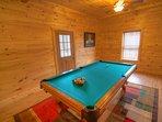 Eagles Nest Billiard Table on Lower Level