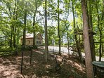 Wooded Play Area Easily Accessible from Cabin