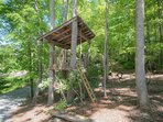 Outdoor Treehouse and Play Area