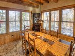 Dining with private wooded view