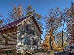 Cabin built out of reclaimed barn log siding.