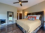Master Bedroom with Custom King Bed