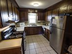 Cabin in the Clouds Kitchen With Stainless Appliances
