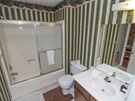 Cabin in the Clouds Full Bath attached to queen on main level