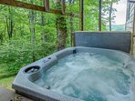 Hot Tub accessible from lower level