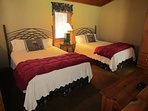 Cherokee Cottage Side by side Queen Beds sleep 4