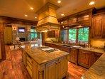 Adirondack Kitchen Open to Living Area
