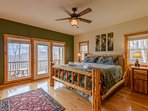 Wildlife Manor Master Bedroom Custom Built King Log Bed