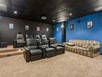 Wildlife Manor Cinema with Theatre lighting, Luxury Leather Seating, 115 inch projection screen, Surround Sound and...