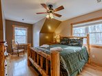 Wildlife Manor Moose Bedroom with Custom Built Cedar Queen Bed