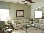 Comfy seating and lots of room for relaxing with the famuily