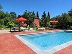 piscine de la Villa Chandra Biot,près Antibes,Cote d'Azur