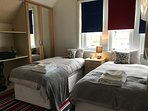Twin room on first floor with ensuite shower room and wc