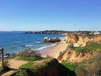 Praia da Rocha beach is 8 minutes drive away.