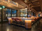 Enjoy spending time at the trendy bar and restaurant on-site