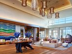 The resort's common areas are bright and spacious, allowing you to fully unwind and relax