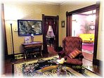 Antique Elegance With Modern Amenities - Large Screen  Viewing w/HDMI Connection. High Speed Wi-Fi.