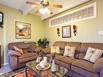Plenty of space to kick back and relax in the living area.