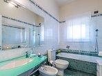 Second bathroom with bath&shower
