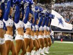 Dallas Cowboys Cheerleaders on the field at AT&T Stadium