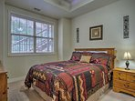 Doze off in the beautiful second bedroom.