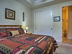 You'll feel nice and cozy on the queen bed in the second room.