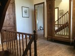 Upstairs landing - wooden floors and plenty of original features and furniture