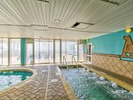 Indoor pools are perfect for rainy days!