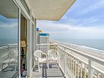 Gaze out at the panoramic Atlantic Ocean views from the balcony.