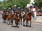 Only in Ft. Worth do you see Police Officers on horseback
