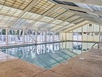 Do some laps in the indoor pool.