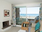 living room with access to terrace with sea views-SA PUNTA COSTA BRAVA