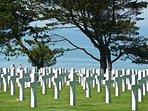 Le cimetière américain à Omaha Beach.