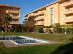 Frontline apartment with community garden and pools.Parking place  . SA PUNTA COSTA BRAVA