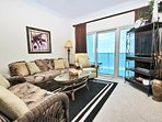 Living Room with Gulf Views and Balcony Access
