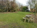 Large lawned back garden, ideal for families and for dogs