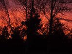 Sunset at Martins Cottages