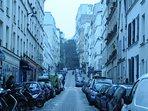 la fameuse rue Muller qui monte à la Basilique Saint Pierre