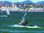 Windsurfing can be done all summer, with anything from light breeze to strong winds