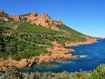 The Esterel is great for hikes, see circuits esterel cotedazur online