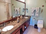 Garden View Upper Level Bedroom: Rhapsody in Green Washroom