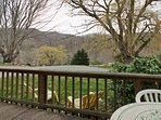 Amazing view of the Great Smoky Mountains from your from porch.