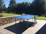 Table tennis table on the patio