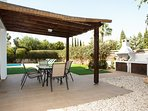 villa sofia ayia napa outdoor dining area and BBQ