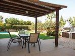 villa sofia ayia napa outdoor dining area and BBQ