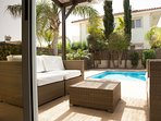 villa sofia ayia napa outdoor lounge seating