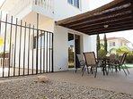 villa sofia ayia napa outdoor dining area